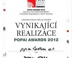 POPAI AWARDS 2012 – ocenění naší práce pro Bosch