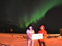 S Neutrogenou  za polární září (5)