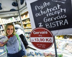 Gervais Bistro in Czech hypermarkets